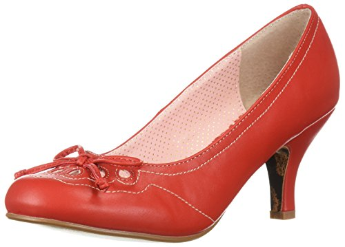 Picture of Bettie Page Women's BP310-RAYNA Pump, red, 7 B US