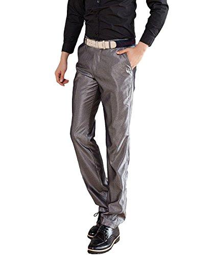 Pantalon Argenté Costume Slim Homme Unie Noir Couleur Coupe Fit Blanc Droite De Allthemen D'affaire OSxwEdnUqq