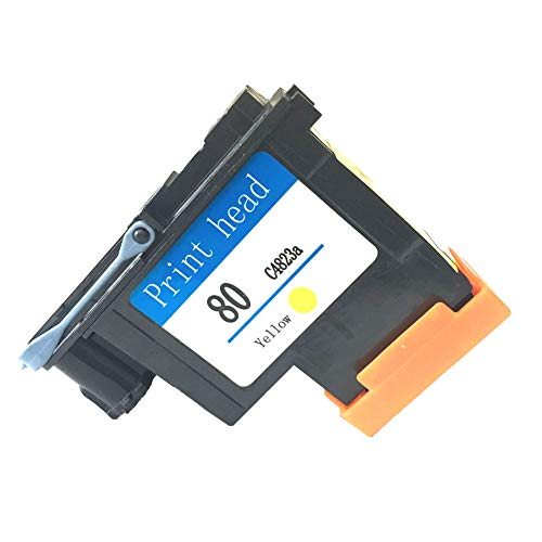 YXG Compatible HP80 Printhead Yellow C4823A Replacement for HP 80 Printhead Fit for DesignJet 1050c 1050c Plus 1055C 1055cm 1055cm Plus Printers(1 Pack of Yellow)