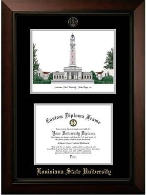 - Louisiana State University Campus Image Diploma Frame