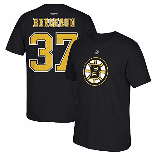 NHL Boston Bruins #37 Patrice Bergeron Home Premier N and N Tee, Medium, Black