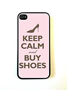 Keep Calm Buy Shoes Pink iphone 5s Case Fits iphone 5s - Designer TPU Case Ve...