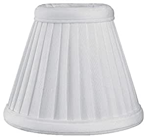 Royal Designs Pleated Empire Chandelier Lamp Shade, White Size 5 (CS-111WH)