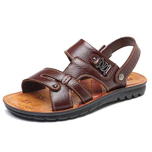 - Sandals for Men 2019 Summer Casual Open Toe Non-Slip Slippers Comfortable Beach Walking Shoes (US:8, Brown)