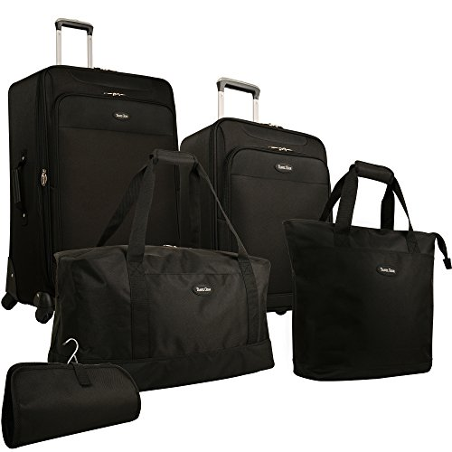 Amazon.com | Travel Gear Star Bright 5 Piece Luggage Set, Black ...
