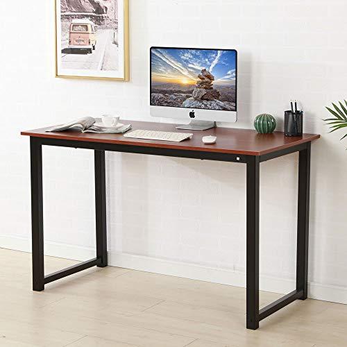 JOYBASE Computer Desk, 47 inch Large Modern Writing Desk, Wood & Metal Laptop Table Study Workstation for Home, Office, School by JOYBASE