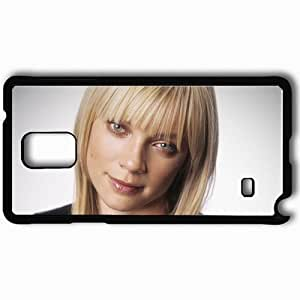 Personalized Samsung Note 4 Cell phone Case/Cover Skin Amy smart blonde face smile eyes Actress Black
