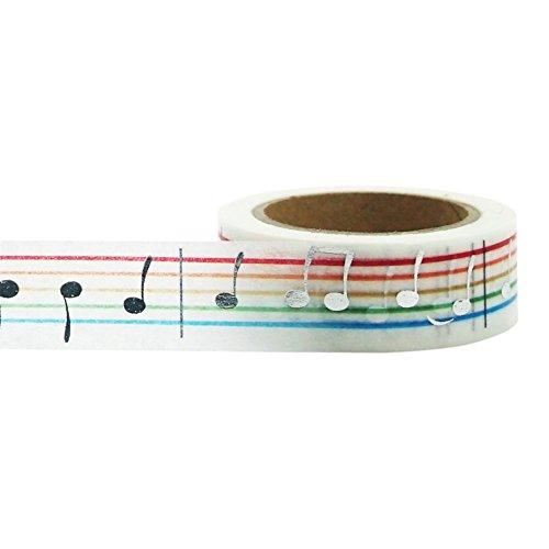 UPC 849431004412, Little B 100441 Decorative Foil Paper Tape, Silver Music Notes