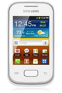 """Samsung Galaxy Pocket Plus S5301 - Smartphone libre (pantalla de 2,8"""" 240 x 320, cámara 2 Mp, 4 GB, procesador de 0.85 GHz), blanco (importado)"""