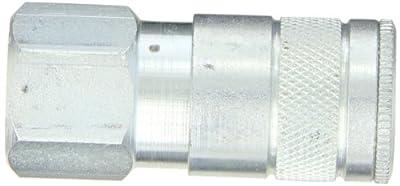 """Dixon Valve DC624 Steel Air Chief Automotive Interchange Quick-Connect Air Hose Socket, 3/8"""" Coupler x 1/2"""" NPT Female Thread, 70 CFM Flow Rating"""