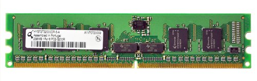 Qimonda 256MB PC2-3200 DDR2-400MHz ECC Registered CL3 240-Pin DIMM Memory Module HYS72T32000DR-5-A