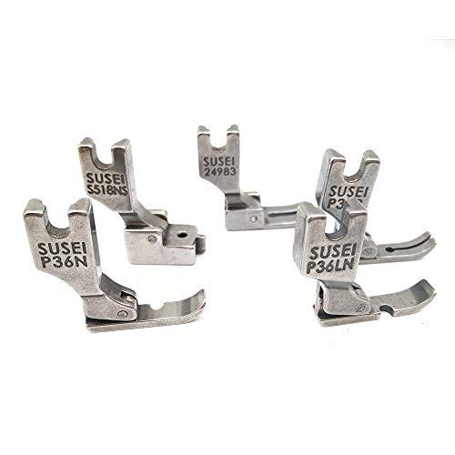 LNKA Presser Feet Industrial Sewing Machines (5 pcs) for Juki DDL-555, DDL-5550, DDL-8500, Includes 24983, 12435HN, 31358HN, S518NS, 40322SH
