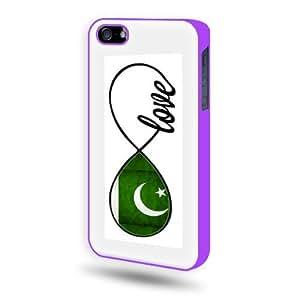 Pakistani Love Flag Infinity Love iPhone 5 Case - Candy Case iPhone 5S Case - Candy Case - Purple SoftShell Full Plastic
