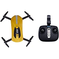 GW018 RC Drones with HD Camera RC Helicopter Foldable Mini Drone FPV Quadcopter Aircraft Selfie Drone(Gold 200+Remote control)