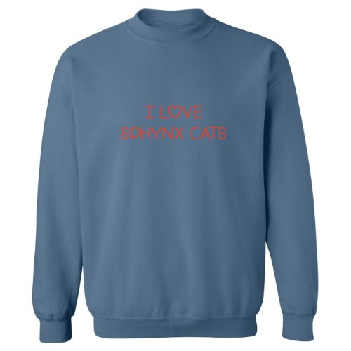 Mashed Clothing I Love Sphynx Cats Adult Sweatshirt (Indigo, 3XL)