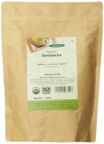 Davidson's Tea Bulk, Genmaicha, 16-Ounce Bag