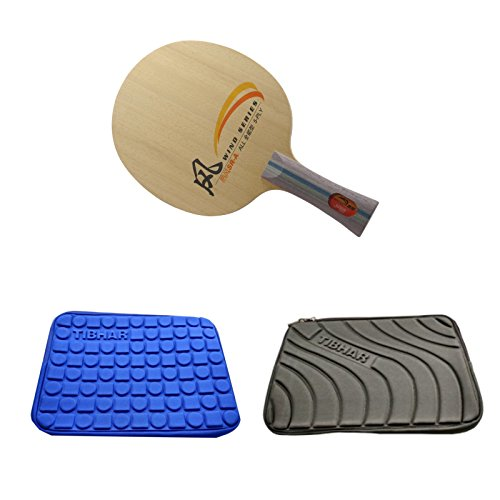 DHS SR-A Table Tennis Blade + 1 Tibhar Soft Case(Blue or Grey) by DHS