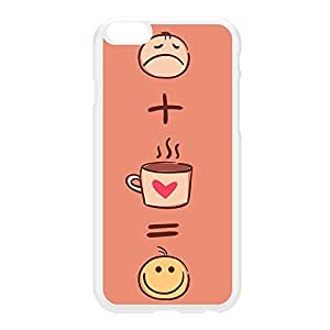 Sad plus Coffee is Happy Funny Quote White Hard Plastic Case for iPhone 6 Plus by UltraCases + FREE Crystal Clear Screen Protector