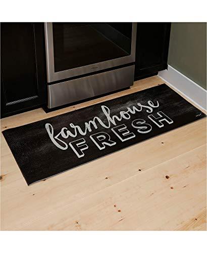 Anti Fatigue PVC Foam Chef Kitchen Floor Mat Rug 18x30 Floral Tea Cups Vine Mint