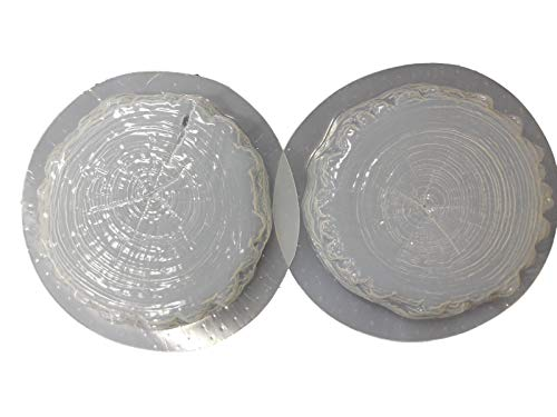 Set of 2 Log End Stepping Stone Concrete or Plaster Molds 1171 ()