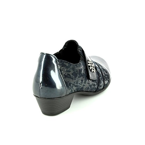 Women's Loafers 15 01 D7333 Pat Print Navy Remonte Pqw6E7n