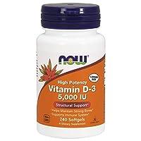 AHORA Vitamina D-3 5,000 IU, 240 softgels