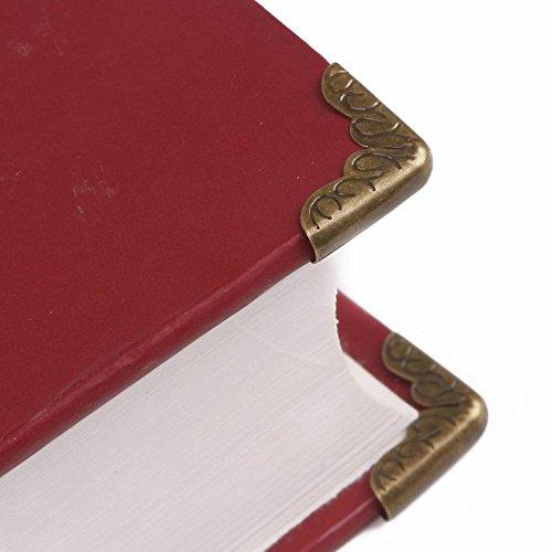 zhuotop 100pcs Metal de bronce antiguo libro esquina /álbumes men/ús carpetas protectores de esquina