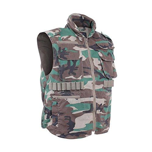 - Rothco Vintage Ranger Vest, Woodland Camo, XX-Large