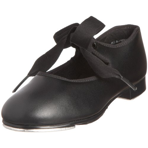 Capezio - Zapatos de claqué para niña, color negro, talla 12 Child UK