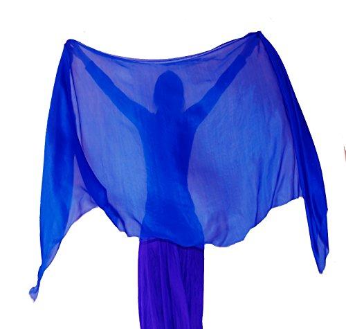 """Nahari Silks 100% Silk Royal Blue 82"""""""