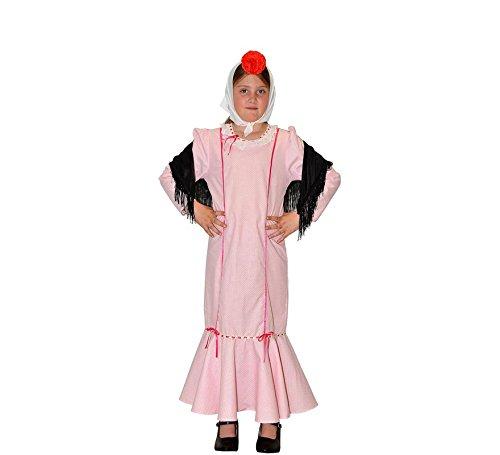 Creaciones Llopis Disfraz de Chulapa Rosa para niña: Amazon ...