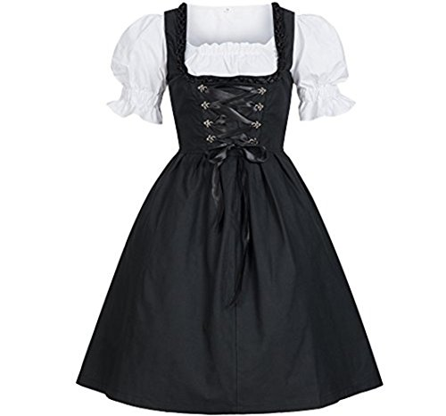 CNJFJ Womens Anime Cosplay Lolita French Maid Dress Halloween Fancy Dress Costumes Outfit