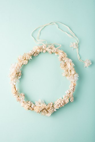 Bridal & Wedding Floral Crown | Cotton Flowers | Handmade in Japan by Brandimport