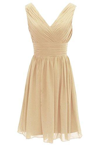 Kurz Neck Fanciest Party Minze Champagne V Wedding Kleid Brautjungfernkleideres Women' qxxtH