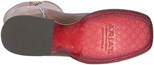 Ariat Womens Circuit Shiloh Stivale Da Lavoro, Stampa Lucertola Di Cioccolato, 6 B Us Weathered Brown