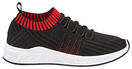 Femme Baskets Noir Pour Generic rouge Mode w1qSw6