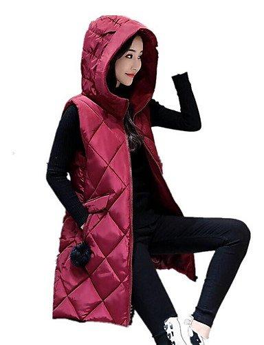 Yameijia 2xl Longue Coton Simple À Automne Plus Size Rouge Manches Capuche Sans Femmes Hiver qAwqrT
