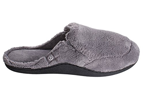 Pantofole Isotoner Mens Microterry Clog Grigio Antracite