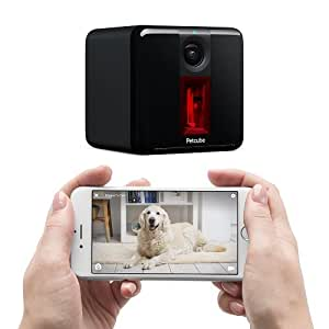 Petcube Play: Pet Camera with 1080p Video, 2-Way Audio, Night Vision, and Laser Toy, works with Alexa. As seen on Ellen, Carbon Black