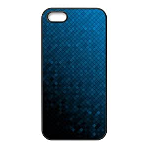 abstract dark blue Aztec Case For iPhone 5,5S Black