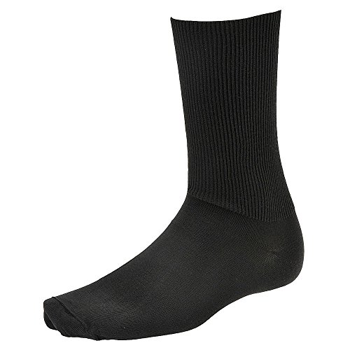 Seamfree Socks Diabetic (Wigwam Diabetic Walker Socks,Black,XL (Men's 12-15))