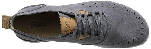 Clarks Hombres Azul/Gris Jacobee Lo Ante Zapatos