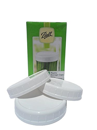 Ball Plastic Reusable Storage Caps, Lids, Regular Size, For Canning and or Mason Jars, 8 caps total