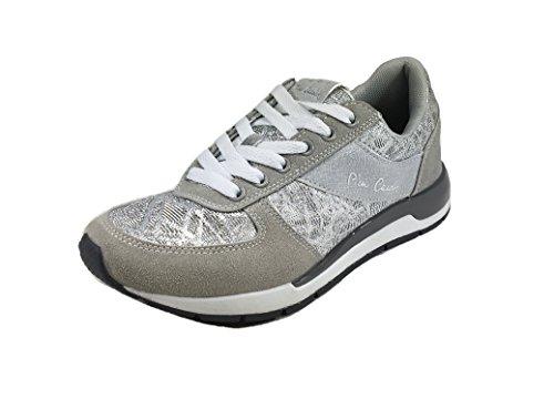 Pierre in Casual Woman Cardin Grigio C627 Donna Scarpe Sneakers Tessuto RwqxfIIg