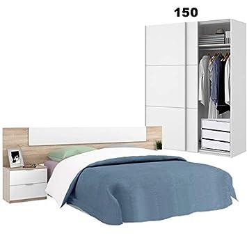 HABITMOBEL Conjunto Dormitorio ; Cabezal y mesitas + Armario ...