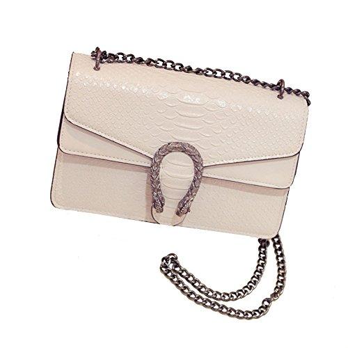 Modello Linea Crossbody 2018 Snake's Bag Designer Beige Catena Moda New Borsa Handbags Donna IAqqTXwf