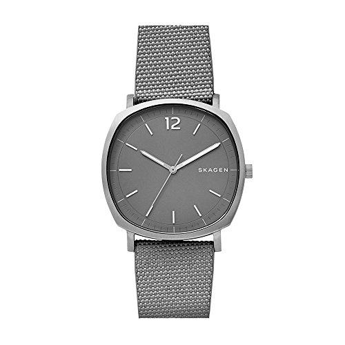 Skagen Men's 'Rungsted' Quartz Titanium and Nylon Casual Watch, Color:Grey (Model: SKW6381)