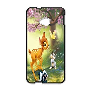 HTC One M7 Phone Case Black Bambi DTW8072553