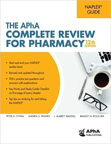 The APhA Complete Review For Pharmacy 9781582122816