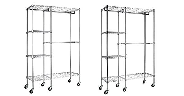 Amazon.com: Sandusky Lee ezgr4818-rw3 Acero Garment rack, 2 ...